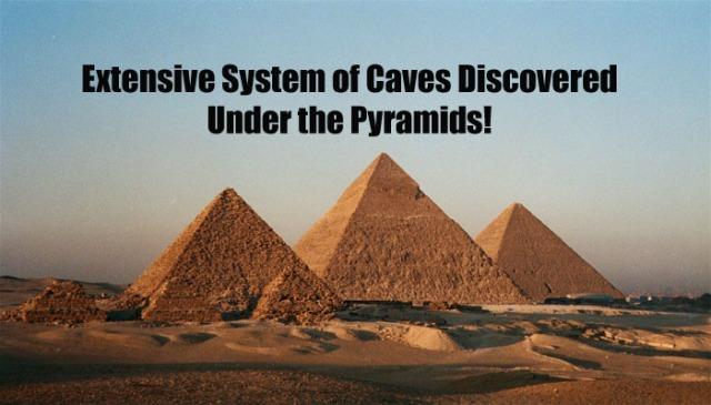 Caves under pyramids